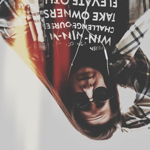 Sunglasses Text One Person Looking At Camera Portrait Day Close-up Indoors  Adult People Young Adult