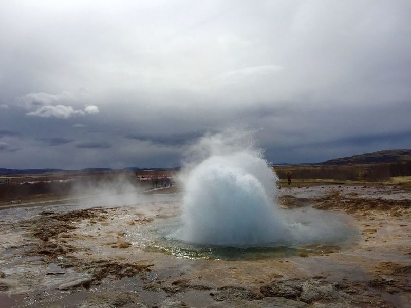 Power In Nature Nature Motion Water Sky Beauty In Nature Sea Outdoors Geyser Cloud - Sky No People Day Hot Spring Erupting Iceland 3XSPUnity EyeEmNewHere