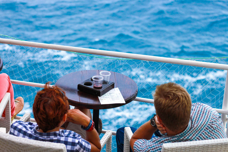 Blue Sea Coffee Time Drink By The Sea Enjoying The View Holiday Relaxing Sitting Vacations Blue Water Coffe Dubrovnik Relaxation Sea View Tourism Water View