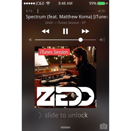 Zedd is on my Now Playing. Spectrum Zedd Np ???