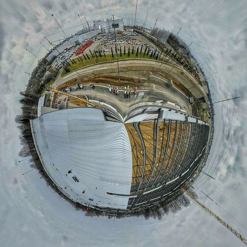 Jobsite  Construction Ironwork  HDR Tinyplanet Sterlingheights Michigan Chrysler Outdoors Workday Check This Out