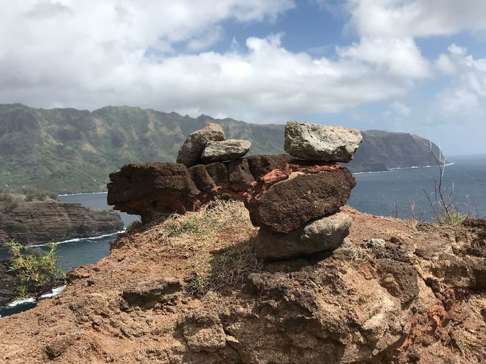 On top of the cliff Rocks Art Ocean View Solid Rocks Cliff Marquesas Islands Marquises Polynésie Française French Polynesia Hiva Oa