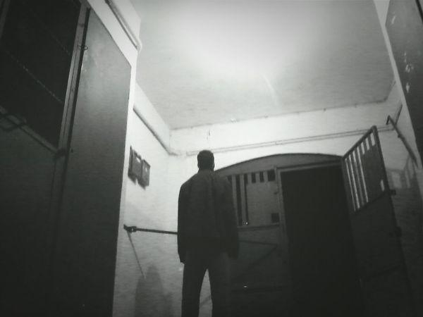 Mysterious Man Blackandwhite Night Lights Goodlife