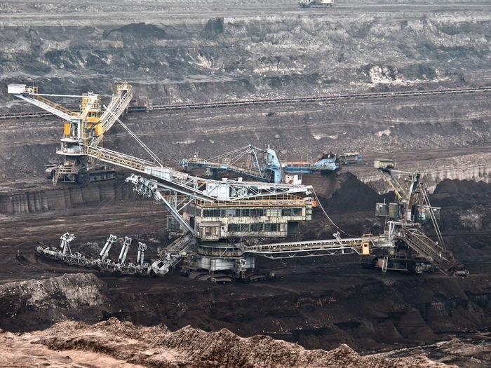 Large machinery at mining