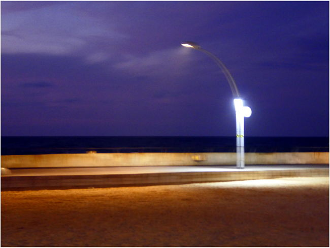 Low Light Horizon Over Water Illuminated Night Outdoors Port Tel Aviv Port Tourism