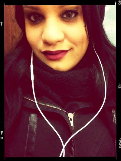 Bored Red Lips Faking A Smile