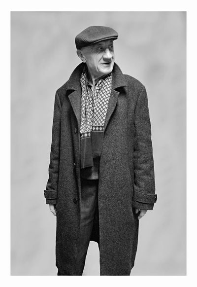 Piotr Adamczyk Photography Adult Auto Post Production Filter Clothing Front View Hat Indoors  Looking Away Men One Person Portrait Real People Retro Styled Standing Studio Shot Three Quarter Length Transfer Print Warm Clothing White Background Young Men