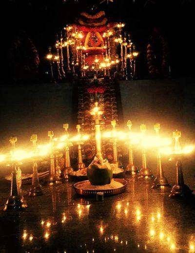 Illuminated Reflection Night No People Flame City Sky God Ayyappa