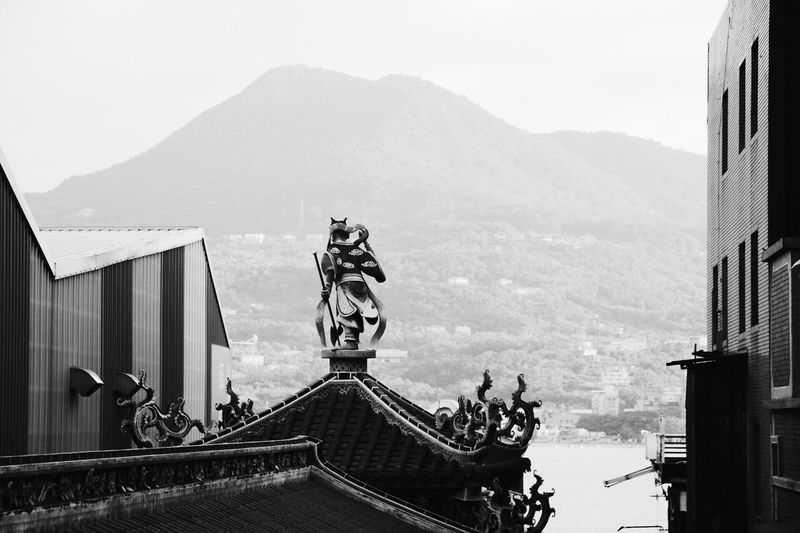 Canon Canon_photos Canonphotography Hanging Out Relaxing Taking Photos Tamsui Mountain Blackandwhite Black And White Blackandwhite Photography Figure God Vscocam VSCO Temple Fine Art Photography Black & White Monochrome Photography