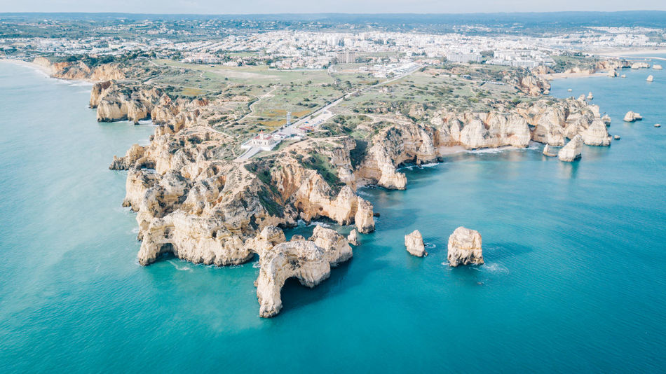 Algarve Atlantic Atlantic Ocean Coastline Drone  Lagos Ponta Da Piedade Tourist Attraction  Aerial View Algarve, Portugal Beach Beauty In Nature Blue Water Coast Day Dji High Angle View Horizon Over Water Nature No People Outdoors Scenics Sea Seaside Tranquil Scene Tranquility Travel Destinations Water Waterfront
