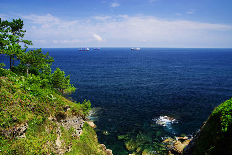 Atlantic coast at Santander, Spain, Europe Sky Plant Land Nature No People Day Outdoors SPAIN Spain♥ Atlantic Atlantic Ocean Atlantic Coast Landscape_Collection Landscape_photography Landscape Travel Travel Photography Landmark Santander Santander, Spain Cantabria Cantabrian Sea Santander, Cantabria, Spain. Basque Country Basque