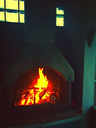 On fire Light Fire Burning Flame Heat - Temperature Glowing Indoors  No People Illuminated Close-up EyeEmNewHere