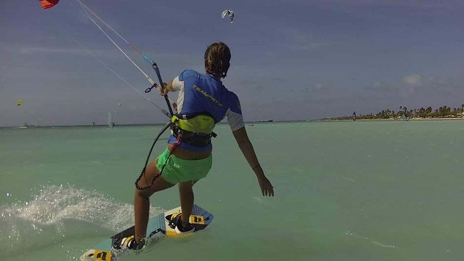 Go where you want to go .... Kiteboarding Kitelife Kitesurf Kite Water Waterspirt Beach Ocean Bluewaters Turtels Aruba Carribbean Island Kitechick Kiteworld Kiteboarding Dushi Water Nautical Vessel Full Length Working River Sky A New Beginning
