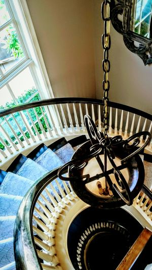 Indoors  No People High Angle View Spiral Staircase Day Close-up Architecture Eyem Gallery Mansion Photography Beautiful Home Wealthy Lifestyle EyeEm Gallery Irwin Collection EyeEm Best Shots Mirror Image Luxury Chandelier Light Indoors  Home Interior