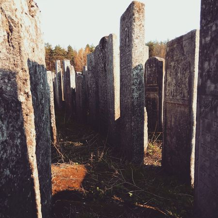 EyeEm Selects Outdoors No People Close-up Sunlight And Shadow Cementerio Cemetery Jewish Cemetery Jewishcemetery Jewish Graveyard Jewish Culture Grass Day