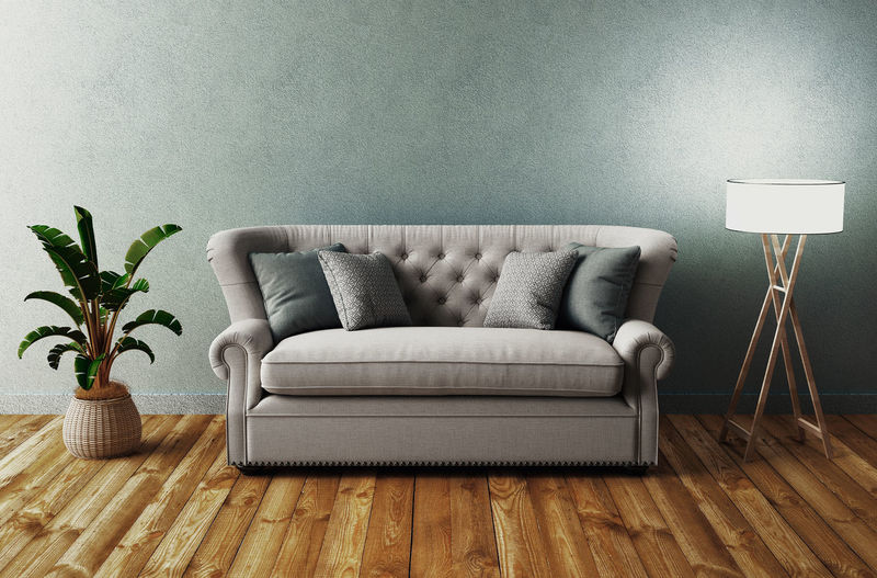 Chairs on sofa at home