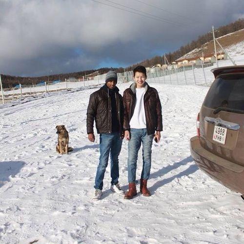 Mongolia Indian_boy Dog Insta instagram klugger toyota snow ect
