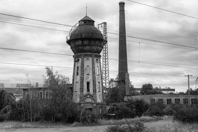 Architecture Blackandwhite Building Exterior Built Structure Chimney Cloud - Sky Cloudy Day No People Outdoors Schönebeck (Elbe) Sky Tower