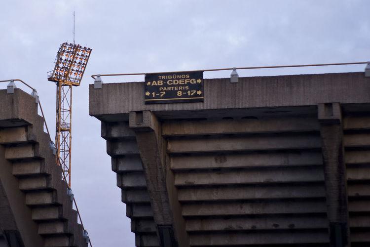 Kaunas Stadium Stadium Architecture Building Exterior Built Structure Communication Dariaus Ir Girėno Stadionas Day Low Angle View No People Outdoors Sky Stadium Architecture Text