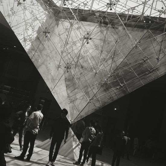 I got a lot of power here👇 Louvre Musée Du Louvre Pyramid Pyramide Du Louvre Travel France Blackandwhite Holygrail Art
