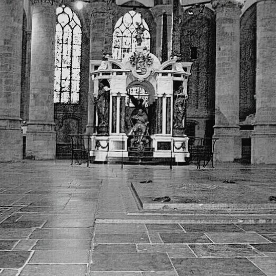 Oude Kerk Netherlands Vacation Time Old Churches Historical Place Blackandwhite Photography
