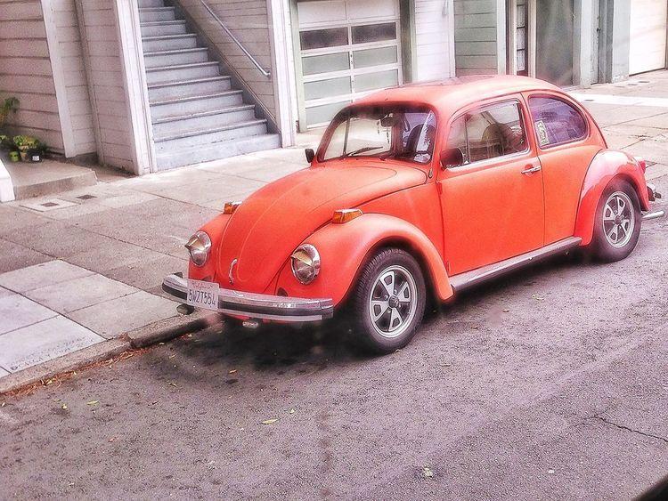 VW Beetle Orange IPhone5 Old Car