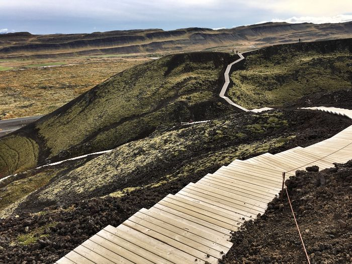 Nature Landscape Outdoors Mountain Iceland Breathtaking Beauty In Nature Winding Road No People Travel Destinations Tranquil Scene Steps And Staircases Lost In The Landscape