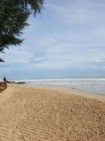 Beach Thailand Thaibeach Calm Tourist Holiday Peace Peace And Quiet Morning Sea And Sky Sea Sand