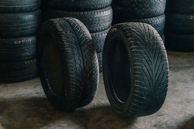 Story Of The Tire !!! Backgrounds Black Color Car Close-up Day No People Old Orderly Row Rubber Selling Stack Tire Wheels