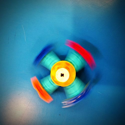 Lego Top Spinning LEGO Colourful Multi-coloured Yellow Red Turquoise White Movement Building Toy Toys Construction Retro Spinning Top Constructed EyeEm Selects Young Adult Blue Motion Indoors  No People Close-up Day