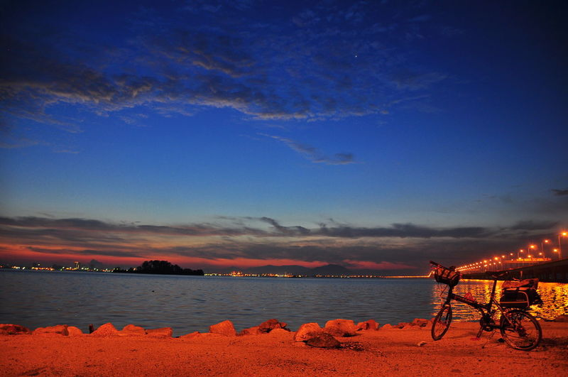 Beach Beauty In Nature Blue Horizon Over Water Nature Night No People Outdoors Scenics Sea Sky Sunset Water