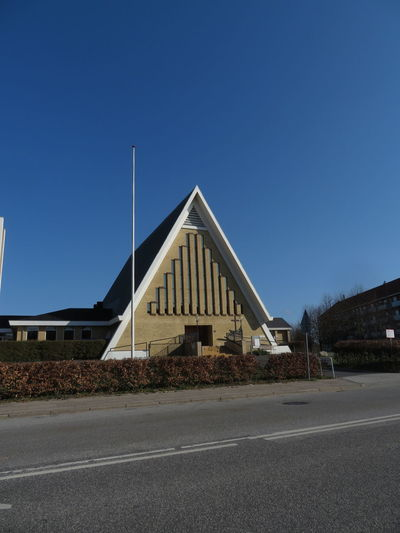 Church City Road History Blue Architecture Building Exterior Sky Built Structure Triangle Shape Geometric Shape Triangle