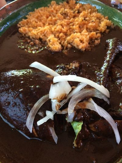 Mole Rojo Mexican Food Mole Rice Mole Con Arroz