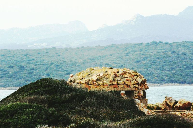 small fortification of Second world war Fortino Fortini Fortifications Olbia  Sardinia Sardegna Italy
