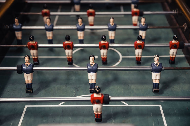 Close-up of foosball