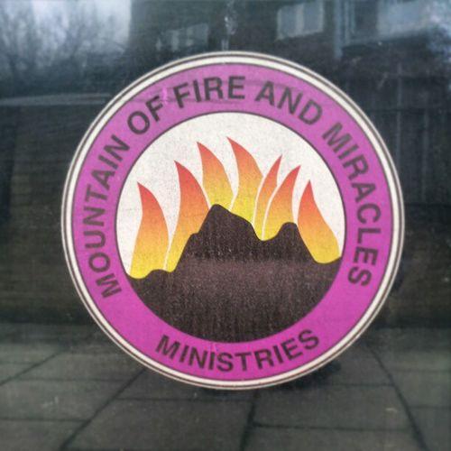 Religion Fire Mountainoffire Weirdshit badge badges logo