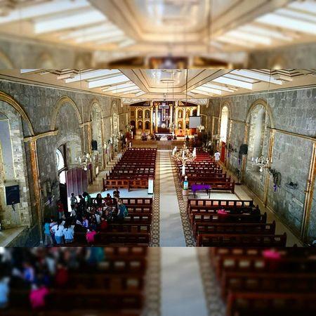 9 of 14 San Agustin Parish Church - Stone church built in 1571 || Via Crucis 2015 . . . Lent2015 Viacrucis Church Heritage themanansala