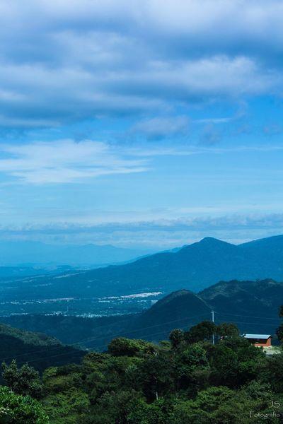 Beauty In Nature Mountain Sky Tranquil Scene Tranquility Cloud - Sky Blue Landscape Village Jayaque ElSalvador  Elsalvadorimpresionante EyeEmNewHere