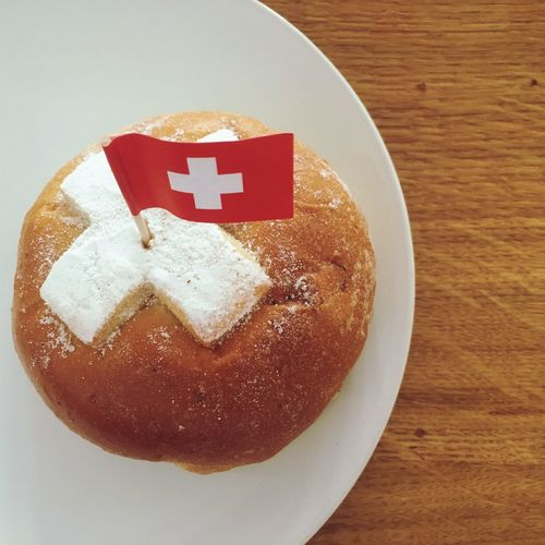 Swiss national holiday bread Switzerland National Holiday Flag National Flag Swiss Holiday Sweet Bread First Of August