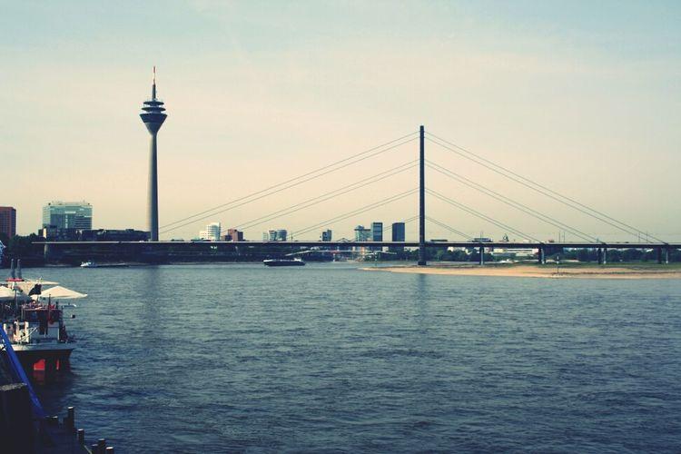 Duesseldorf, Germany Skyline Bridge Cityscapes Canon Photography TheMinimals (less Edit Juxt Photography) Rhein Canon 1000D Welovedus Duesseldorf