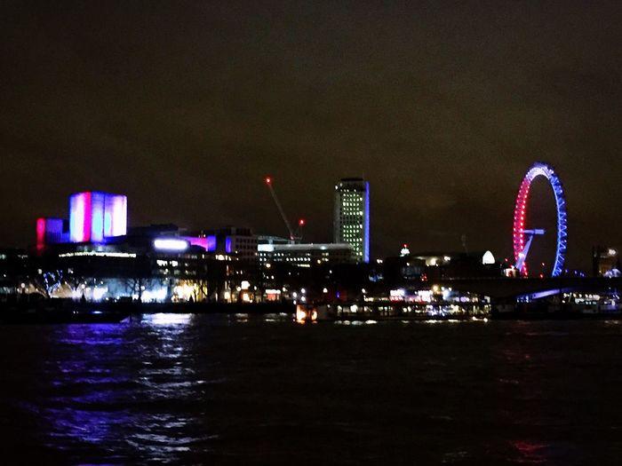 Prayforparis London Londoneye #bynight LondonPrayForParis
