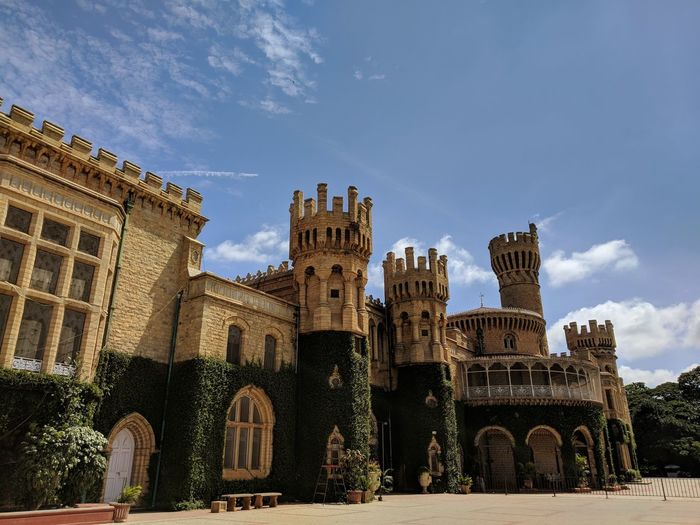 Bangalore Palace. City History Sky Architecture Historic Ancient Exterior