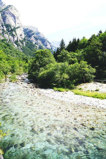 Mountain Landscape River Valtellina Italy🇮🇹
