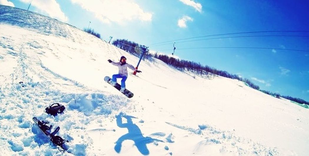 My first time Snowboarding Snow Winter Love