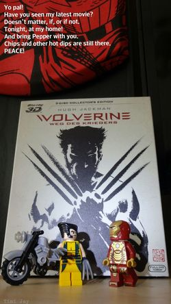 Yo! Put your 3D glasses on and enjoy another cgi spectacle from Marvel . Wolverine Ironman Movies #lego