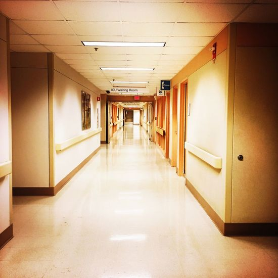 Corridor Indoors  Door The Way Forward Empty No People Built Structure Architecture Illuminated OpenEdit The Week Of Eyeem The EyeEm Facebook Cover Challenge The Week On EyeEm From My Point Of View Healthcare And Medicine Hospital No People, Indoors  Clean AI Now