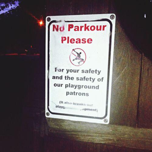 Parkour Park Night