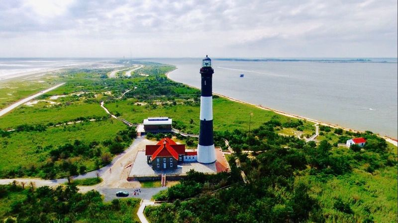 Fire Island Lighthouse Fire Island NY Dronephotography Droneshot Drone  Been There. Lost In The Landscape