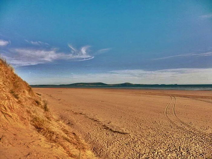 Beach Horizon Sea And Sky Goldensands Seascape Wales Taking Photos Walking Around Outdoors Landscape