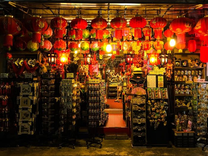 Showcase July Arrangement Chinatown Choice Collection Culture Cultures Decoration Display For Sale Illuminated Large Group Of Objects Market Market Stall No People Red Repetition Retail  Sale Shop Small Business Still Life Store Traditional Variation